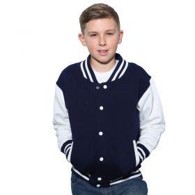 AWDis Hoods Kids varsity jacket: JH43J
