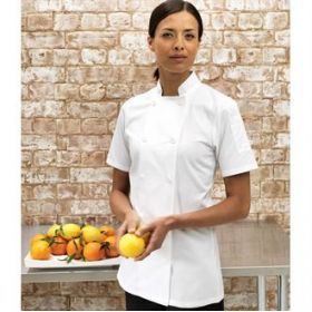 PR670 Premier Women's short sleeve chef's jacket