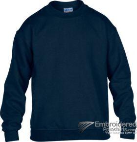 Gildan Gildan Childrens Crewneck Sweatshirt-pantone 533C Navy