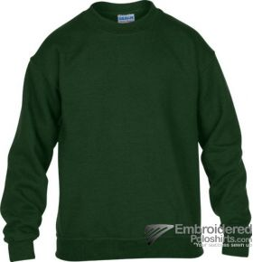 Gildan Gildan Childrens Crewneck Sweatshirt-pantone 5535C Forest Green