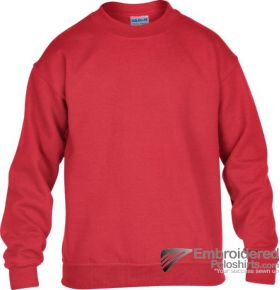Gildan Gildan Childrens Crewneck Sweatshirt-pantone 7620C Red