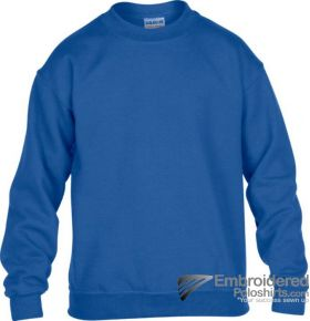 Gildan Gildan Childrens Crewneck Sweatshirt-pantone 7686C Royal