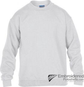 Gildan Gildan Childrens Crewneck Sweatshirt-pantone 000C White