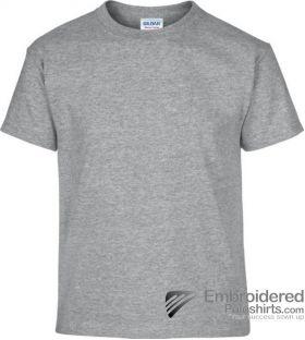 Gildan Children's Heavy Cotton T-Shirt-pantone CG7C Sport Grey