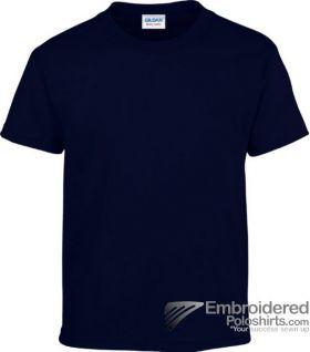 Gildan Children's Heavy Cotton T-Shirt-pantone 533C Navy