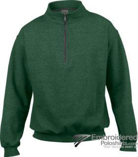 Gildan Adult Vintage 1/4 Zip Sweatshirt-pantone 349C Meadow
