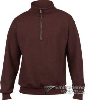 Gildan Adult Vintage 1/4 Zip Sweatshirt-pantone 497C Russet