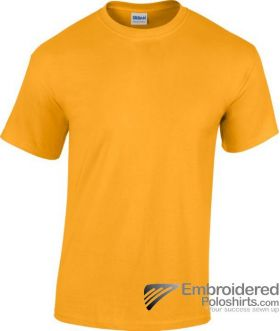 Gildan Heavy Cotton T-Shirt-pantone 1235C Gold
