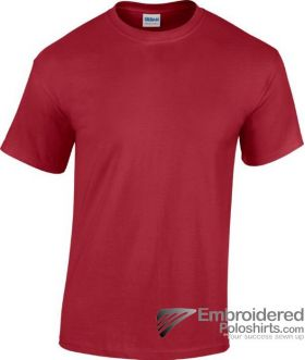Gildan Heavy Cotton T-Shirt-pantone 202C Cardinal