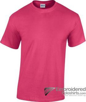 Gildan Heavy Cotton T-Shirt-pantone 213C Heliconia