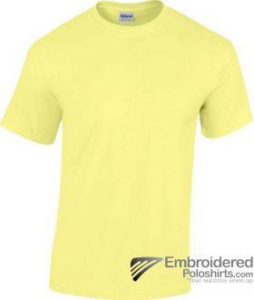 Gildan Gildan Heavy Cotton T-Shirt-pantone 393C Cornsilk
