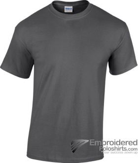 Gildan Gildan Heavy Cotton T-Shirt-pantone 446C Dark Heather