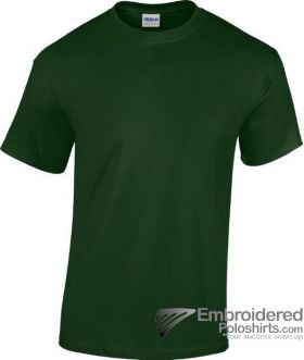 Gildan Heavy Cotton T-Shirt-pantone 5535C Forest Green