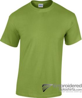 Gildan Heavy Cotton T-Shirt-pantone 5777C Kiwi