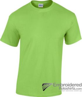 Gildan Heavy Cotton T-Shirt-pantone 7488C Lime