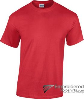 Gildan Heavy Cotton T-Shirt-pantone 7620C Red