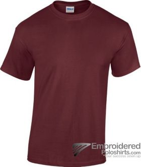 Gildan Heavy Cotton T-Shirt-pantone 7644C Maroon