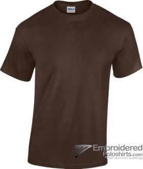 Gildan Heavy Cotton T-Shirt-pantone B5C Dark Chocolate