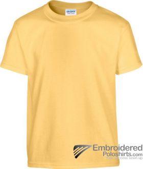 Gildan Children's Heavy Cotton T-Shirt-pantone 148C Yellow Haze