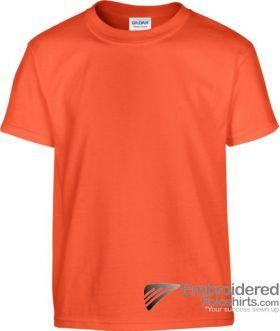 Gildan Children's Heavy Cotton T-Shirt-pantone 1665C Orange