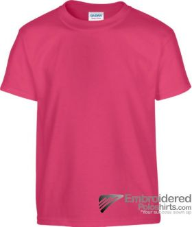 Gildan Children's Heavy Cotton T-Shirt-pantone 213C Heliconia