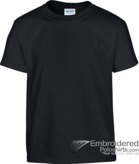 Gildan Children's Heavy Cotton T-Shirt-pantone 426C Black