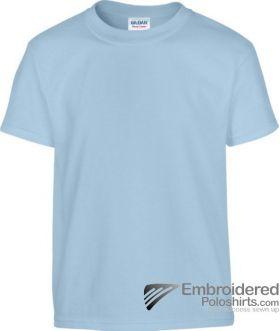 Gildan Children's Heavy Cotton T-Shirt-pantone 536C Light Blue