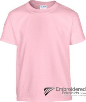Gildan Children's Heavy Cotton T-Shirt-pantone 685C Light Pink