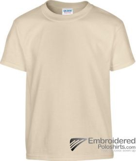 Gildan Children's Heavy Cotton T-Shirt-pantone 7528C Sand