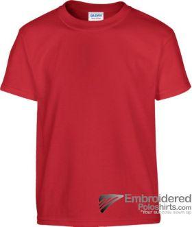 Gildan Children's Heavy Cotton T-Shirt-pantone 7620C Red