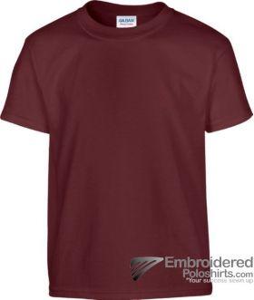 Gildan Children's Heavy Cotton T-Shirt-pantone 7644C Maroon
