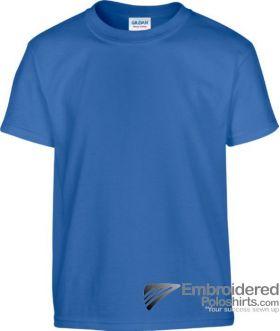 Gildan Children's Heavy Cotton T-Shirt-pantone 7686C Royal