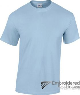 Gildan Heavy Cotton T-Shirt-pantone 536C Light Blue