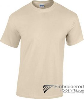 Gildan Heavy Cotton T-Shirt-pantone 7528C Sand