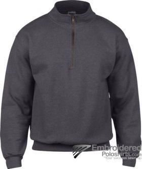 Gildan Adult Vintage 1/4 Zip Sweatshirt-pantone 7540C Tweed