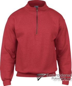 Gildan Gildan Adult Vintage 1/4 Zip Sweatshirt-pantone 7620C Red