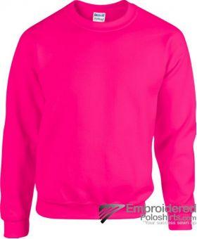 Gildan Gildan Heavy Blend 50/50 Sweatshirt-pantone 1915C Safety Pink