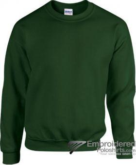 Gildan Heavy Blend  Adult Crewneck Sweatshirt-pantone 5535C Forest Green
