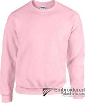 Gildan Heavy Blend  Adult Crewneck Sweatshirt-pantone 685C Light Pink