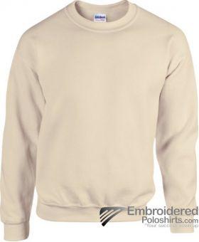 Gildan Heavy Blend  Adult Crewneck Sweatshirt-pantone 7528C Sand