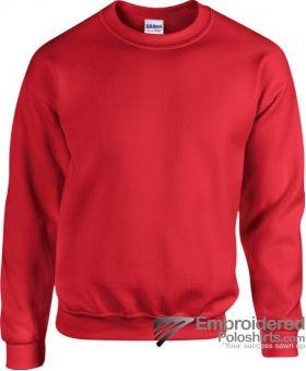 Gildan Heavy Blend  Adult Crewneck Sweatshirt-pantone 7620C Red