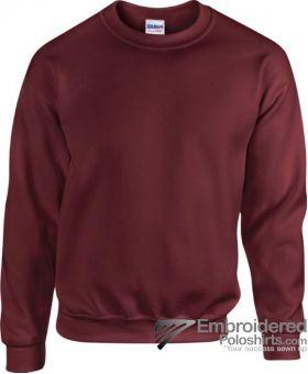 Gildan Heavy Blend  Adult Crewneck Sweatshirt-pantone 7644C Maroon