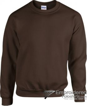 Gildan Heavy Blend  Adult Crewneck Sweatshirt-pantone B5C Dark Chocolate