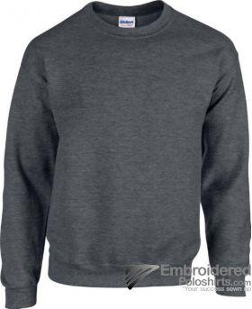 Gildan Heavy Blend  Adult Crewneck Sweatshirt-pantone 446C Dark Heather
