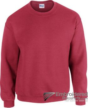 Gildan Heavy Blend  Adult Crewneck Sweatshirt-pantone 7427C Antique Cherry Red