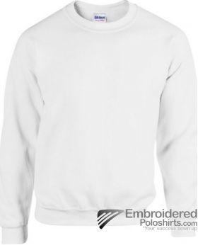 Gildan Heavy Blend  Adult Crewneck Sweatshirt-pantone 000C White