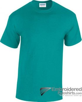 Gildan Heavy Cotton T-Shirt-pantone 7715C Antique Jade Dome