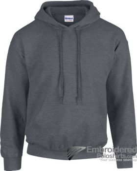 Gildan Heavy Blend  Adult Hooded Sweatshirt-pantone 446C Dark Heather