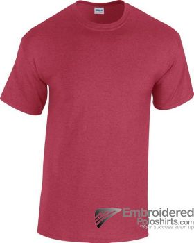 Gildan Heavy Cotton T-Shirt-pantone 7427C Antique Cherry Red
