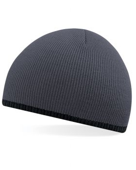 Beechfield B44C Two Tone Knitted Hat